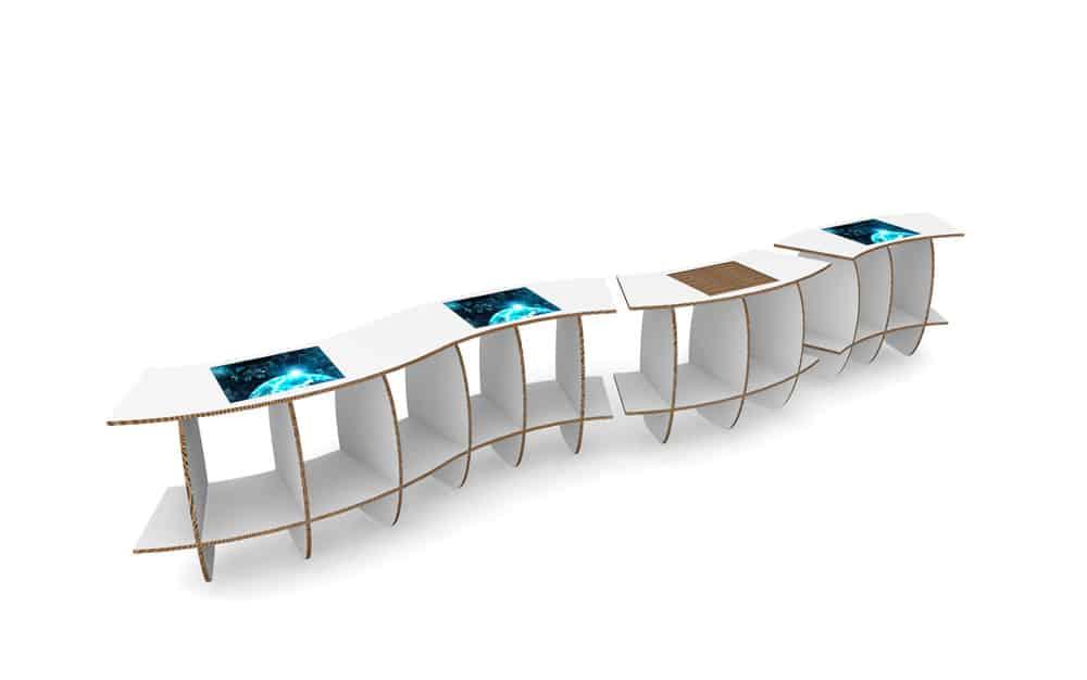 Progettazione 3D Espositori-Palazzo-Rospigliosi