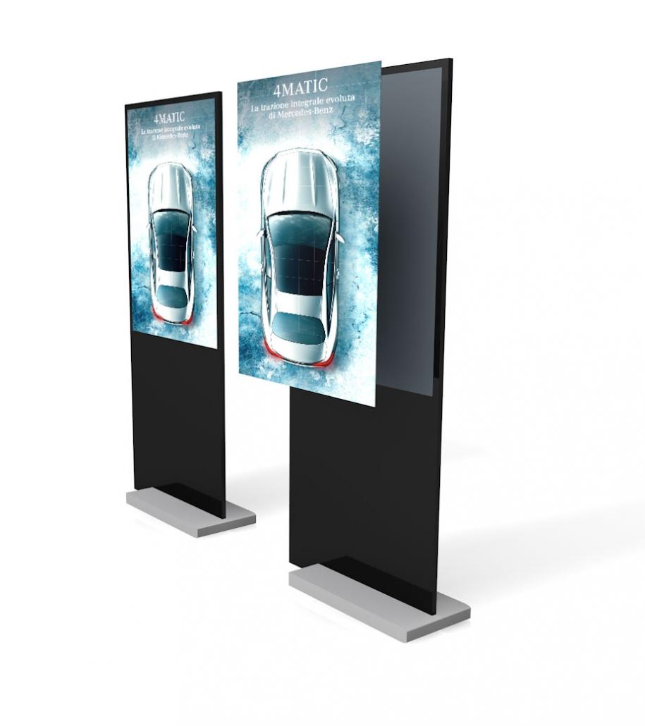 Progettazione 3D Totem Mercedes Benz